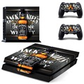Jack daniels decal skin para sony playstation 4 ps4 consola + 2 unids pegatinas para el controlador de ps4