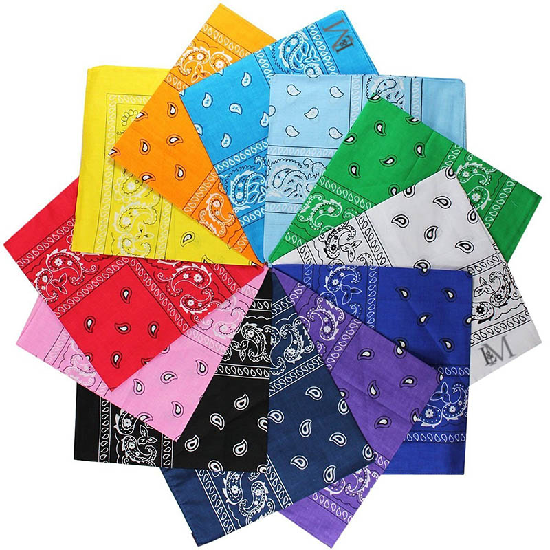 URQ 3pcs Lot Man Woman Bandanas 100% Cotton Paisley Print Head Wrap Scarf Wristband AA10015