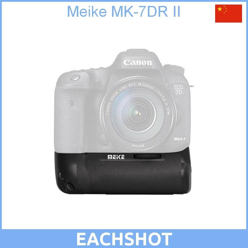 Nouveauté Meike MK-7DR II 2.4G télécommande sans fil poignée de batterie pour Canon 7d mark ii
