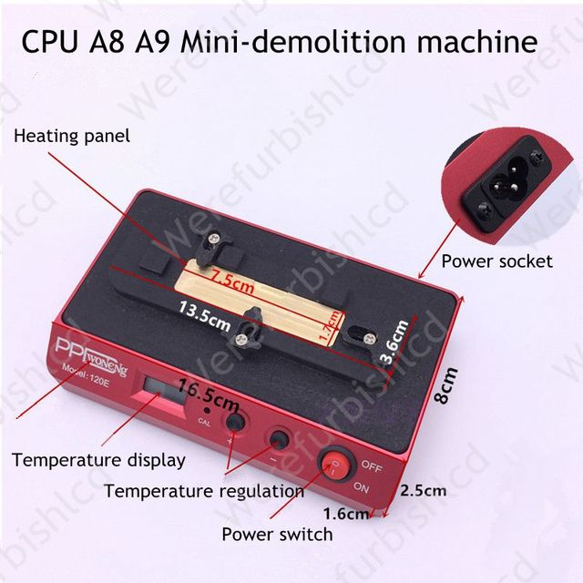 Для iPhone 6 6 s plus удалить CPU BGA Интеллектуальные снос сварки платформа низкая температура снос A8 A9 CPU Паяльная Платформа