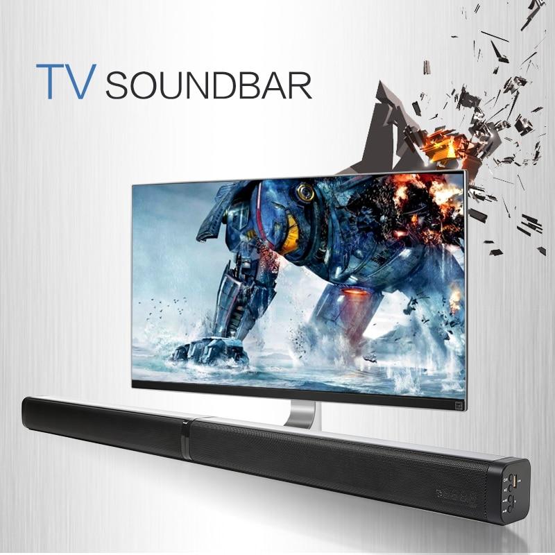 Barre de son TV sans fil haut-parleur Bluetooth tissu élégant barre de son Hifi 3D stéréo Surround Support RCA AUX HDMI pour Home cinéma