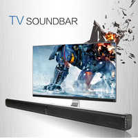 Drahtlose TV Soundbar Bluetooth Lautsprecher Stilvolle Stoff Sound Bar Hifi 3D Stereo Surround Unterstützung RCA AUX USB Für Heimkino