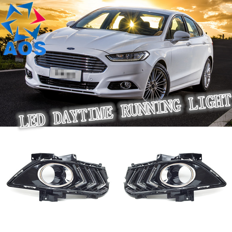 2PCs/set AUTO LED DRL Daylight waterproof Car Daytime Running lights set For Ford Mondeo 2013 2014 2015 датчик lifan auto lifan 2