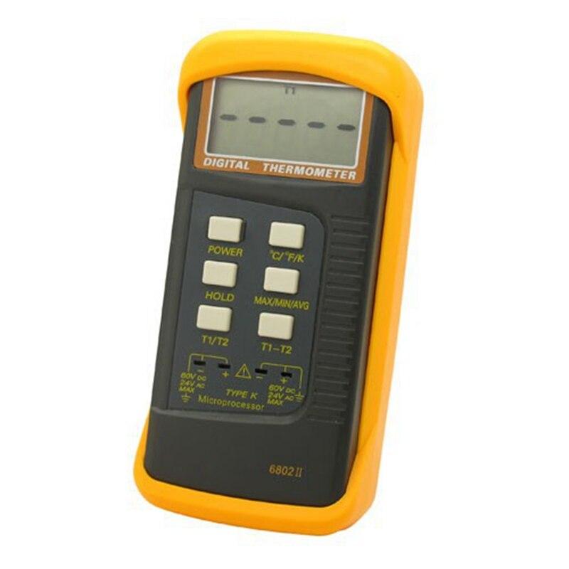 Image 3 - Termómetro Digital tipo de termopar K 1300C Sonda de doble canal  profesional medidor de temperatura Industrial C/F/K Quick Data  Holdindustrial temperaturedigital thermocouple  thermometerthermocouple thermometer