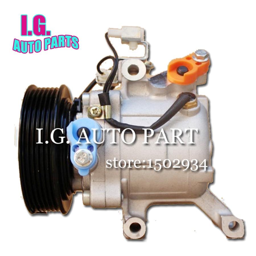 SV07C A/C Compressor for car Toyota Rush Daihatsu Terios ac compressor 447190-6121 447160-2270 4471602270 447260-0667 high quality auto air conditioning compressor sc06e pv4 for daihatsu for car toyota terios ac compressor with clutch