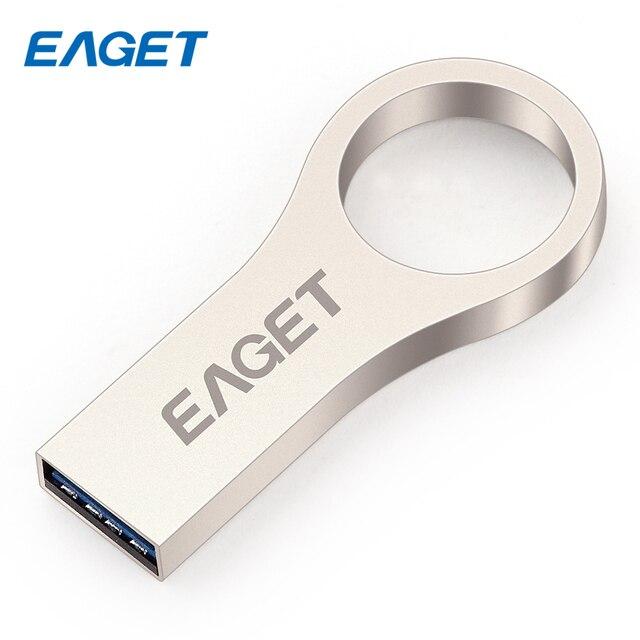 EAGET U66 USB3.0 16GB 32GB 64GB Real Capacity Metal High Speed Stick Flash Drive Pendrives Waterproof Encryption USB Disk