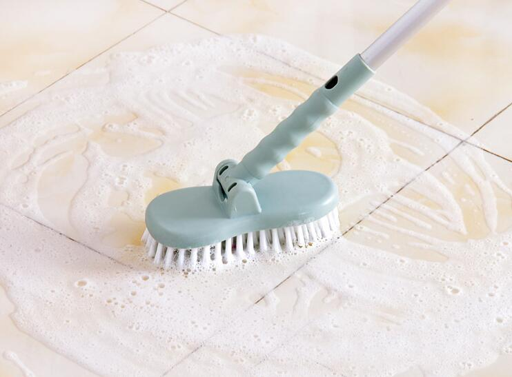 Hot sale Cleaning Tools Floor Toilet Bath Long Handle Bristle Brush Bathroom Tiles Cleaning Brush Long Handle 0312