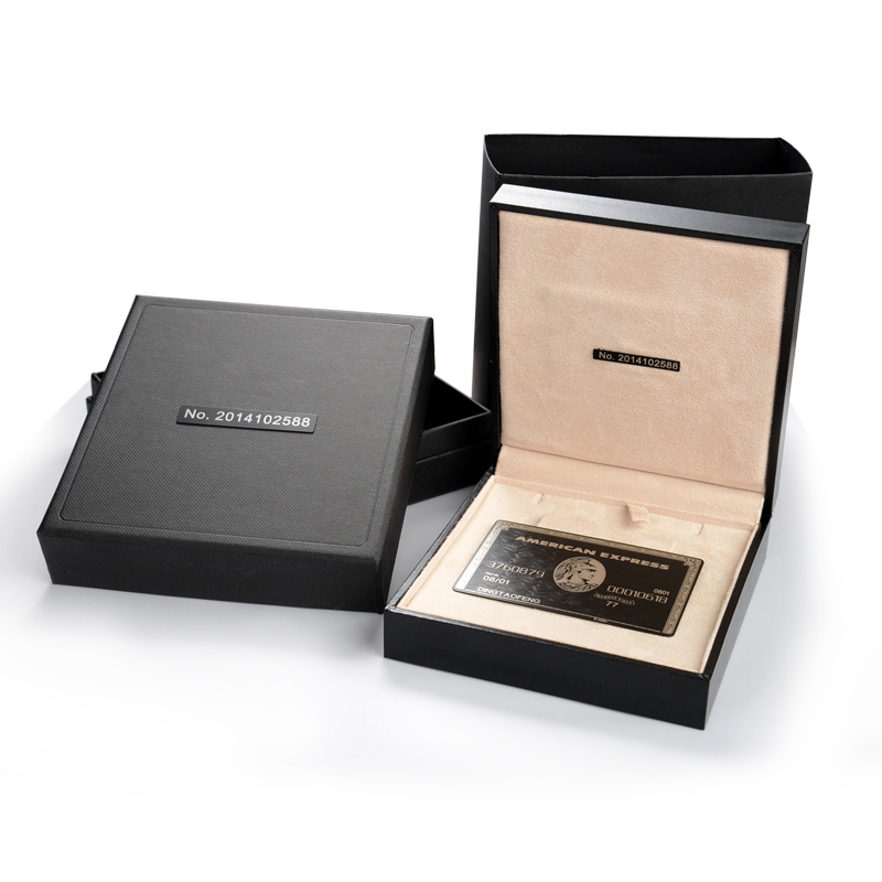 American Express(Amex) Black Centurion Bank Card METAL customise gift free shippment