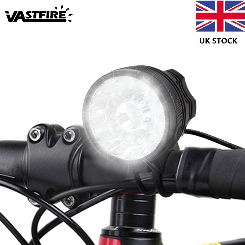 14 LED lamp beads <font><b>7000</b></font> <font><b>Lumens</b></font> Bike <font><b>Light</b></font> Cycling <font><b>Light</b></font> <font><b>Bicycle</b></font> <font><b>light</b></font> Battery needs to be purchased separately image