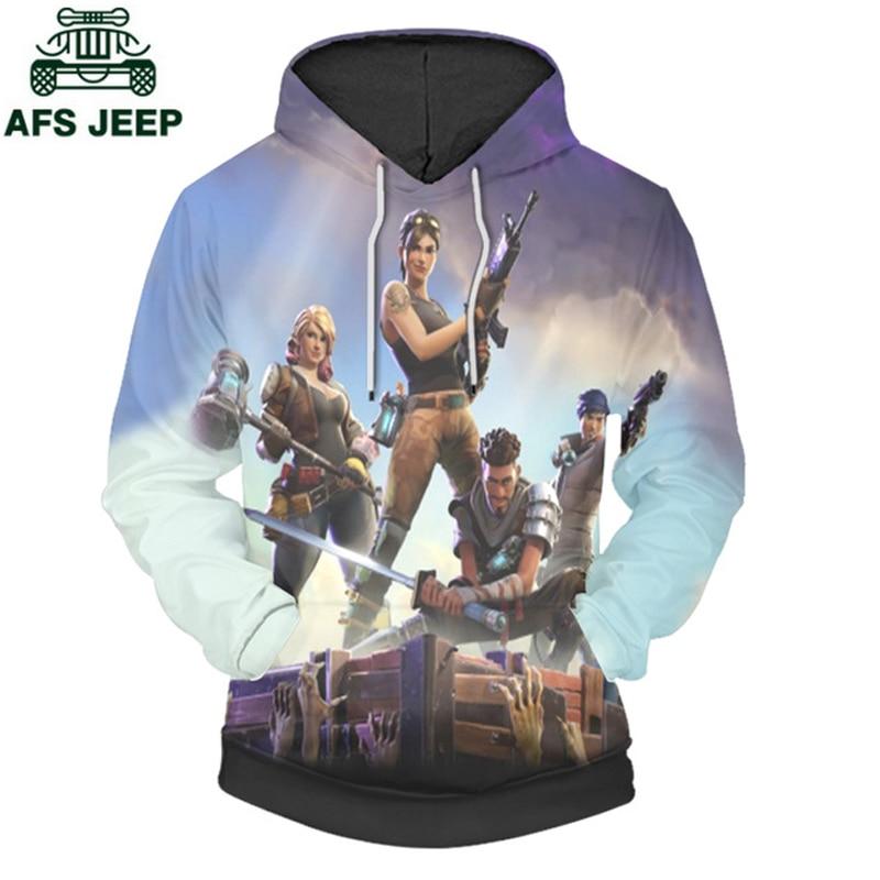 Brand 3D Print Game Fortnite Pullover Hoodie Sweatshirt Plus Size 4XL Hip Hop O-Neck Hooded 3d Printed Fortnite Hoodies Men
