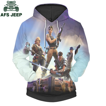Brand 3D Print Game Fortnite Pullover Hoodie Sweatshirt Plus Size 4XL Hip Hop O-Neck Hooded 3d Printed Fortnite Hoodies Men