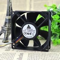 New Original 8025 8cm 0 41A PWM Automatic Speed Control CPU Heatsink Fan AUB0812VH
