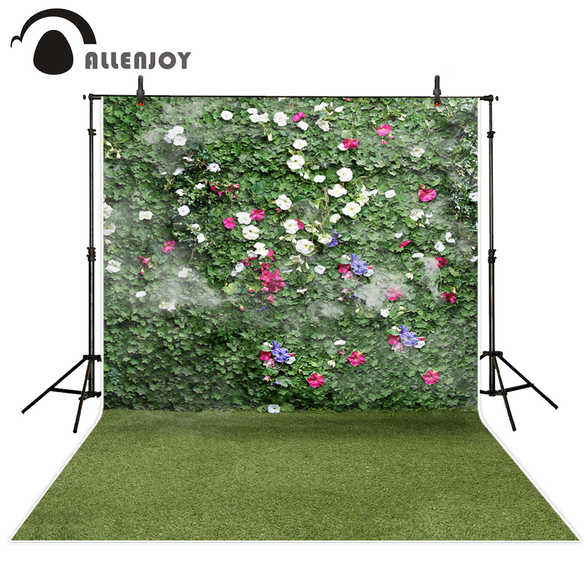 Allenjoy photographic background Grassland Flower wall Natural Green beautiful fantasy backdrop photography photocall props