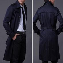 Spring autumn mens trench coats man long coat men Single-breasted clothes slim f