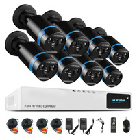 H. вид 1080 P видеонаблюдения Системы 8CH комплект видеонаблюдения 8 шт. 1080 P безопасности Камера супер Ночное видение 8 CH 1080N CCTV DVR