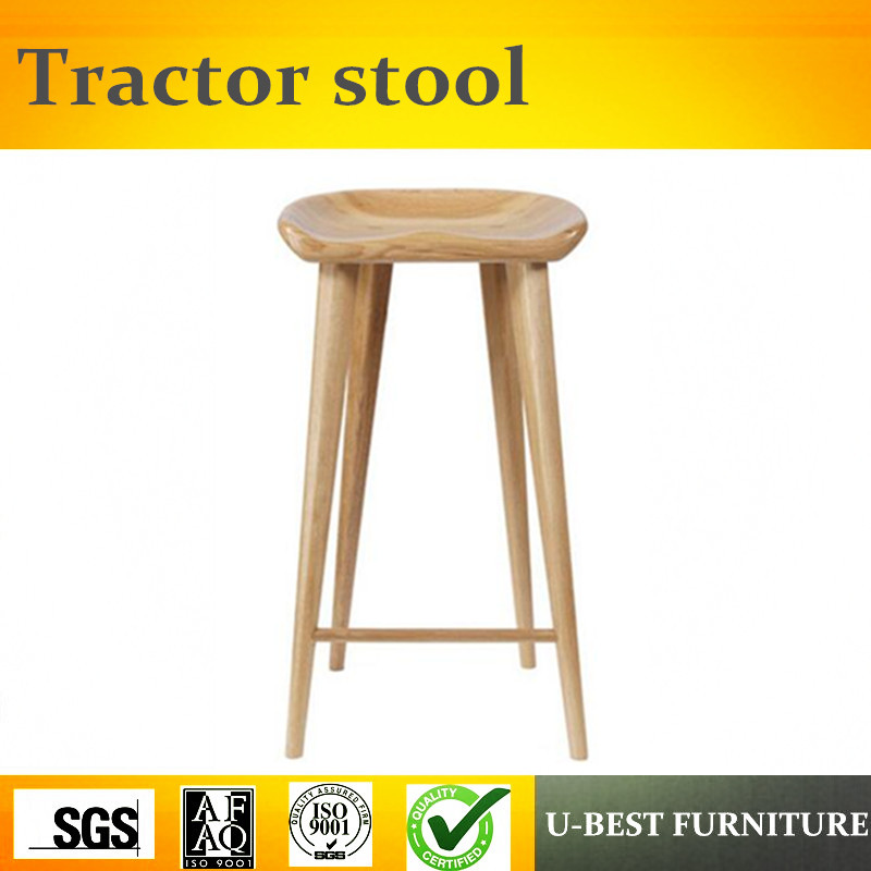 Free Shipping U-BEST High Tractor Seat High Top Bar Stool,counter Home Center Bar Stools With Woodenl Legs