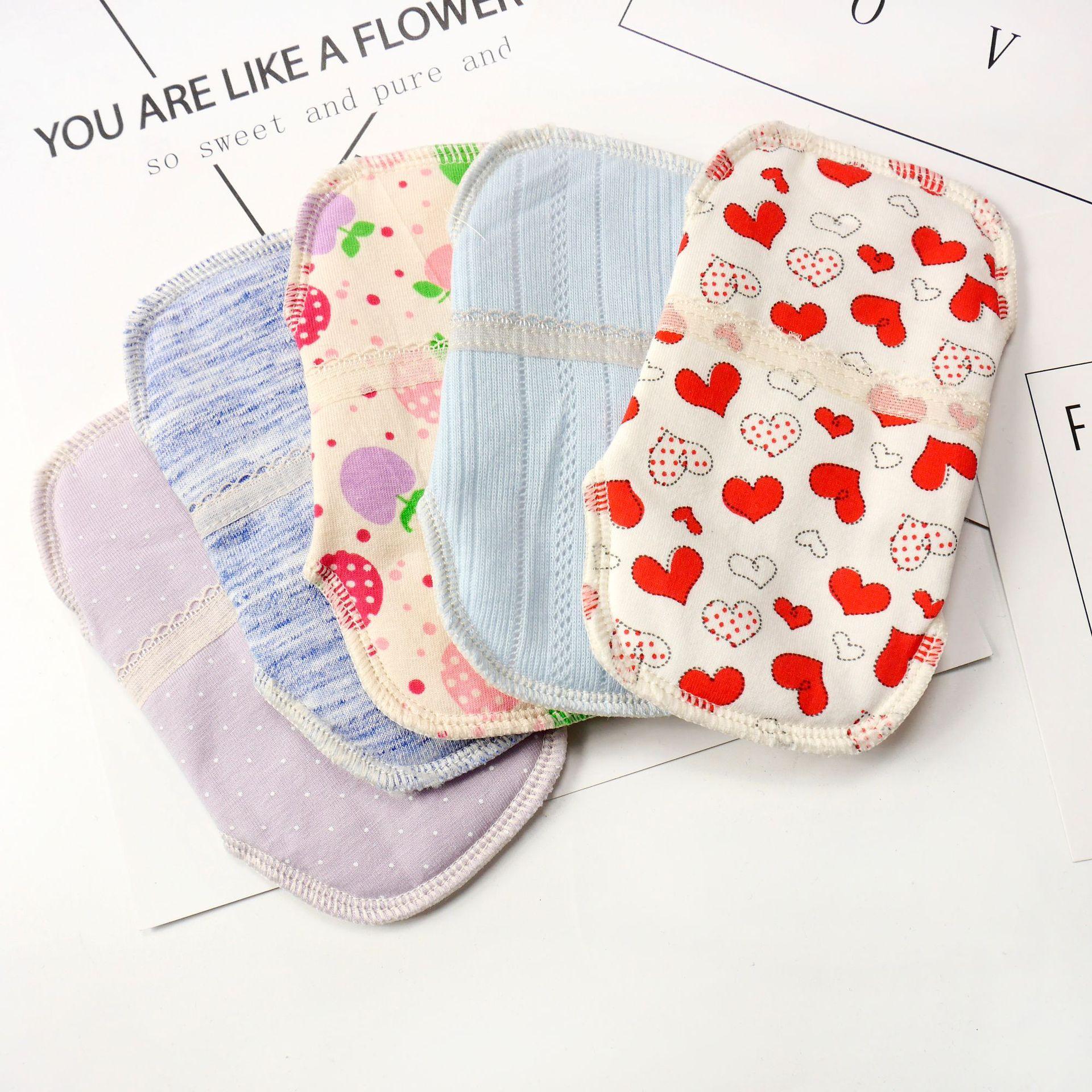 2pcs Washable Menstrual Pad Reusable Sanitary Mama Pad Soft Cotton Cloth Feminine Hygiene Panty Liner Towel Pads Health Care