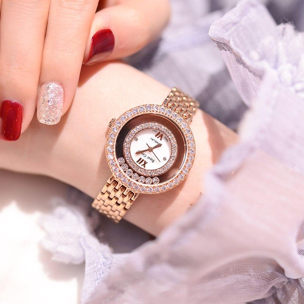 Claw setting Lady Women s Watch Japan Quartz Fashion Fine Stainless Steel Bracelet Clock Girl Birthday