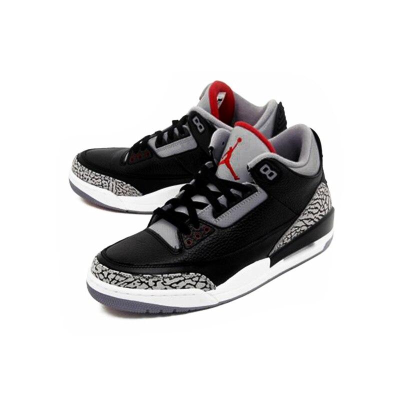 competitive price d8b42 3ac6d US $120.47 31% OFF|Nike Air Jordan 3 Black Cement AJ3 Men 's Basketball  Shoes Sport Outdoor Sneakers Athletic Designer Footwear 2018 New 854262  001-in ...