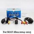 Câmera de Visão Traseira do carro/Para SEAT Altea XL/Altea 4 2004 ~ 2015/RCA Fio Ou Sem Fio HD Lente Grande Angular/CCD de Visão Noturna câmera