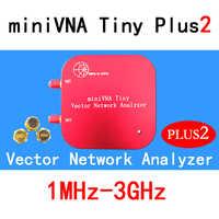 1 M-3 GHz Vector analizador de red miniVNA pequeño Plus2 VHF/UHF/NFC/RFID, antena RF analizador generador de señal SWR/S-parámetro/Smith