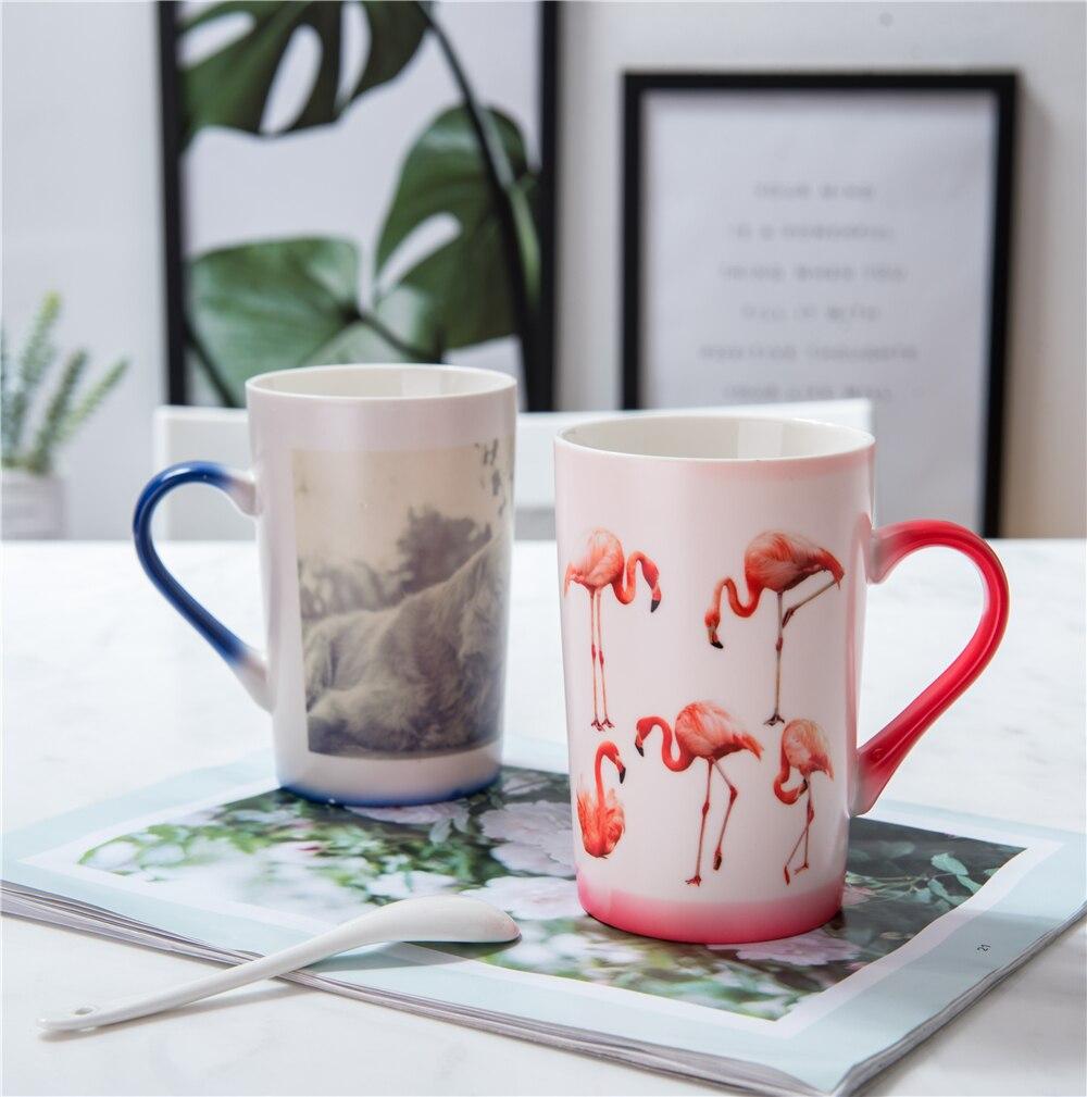 450ML color changing magic mug heat sensitive coffee mug,hot water for gift black,blue,red 10piece 1 box
