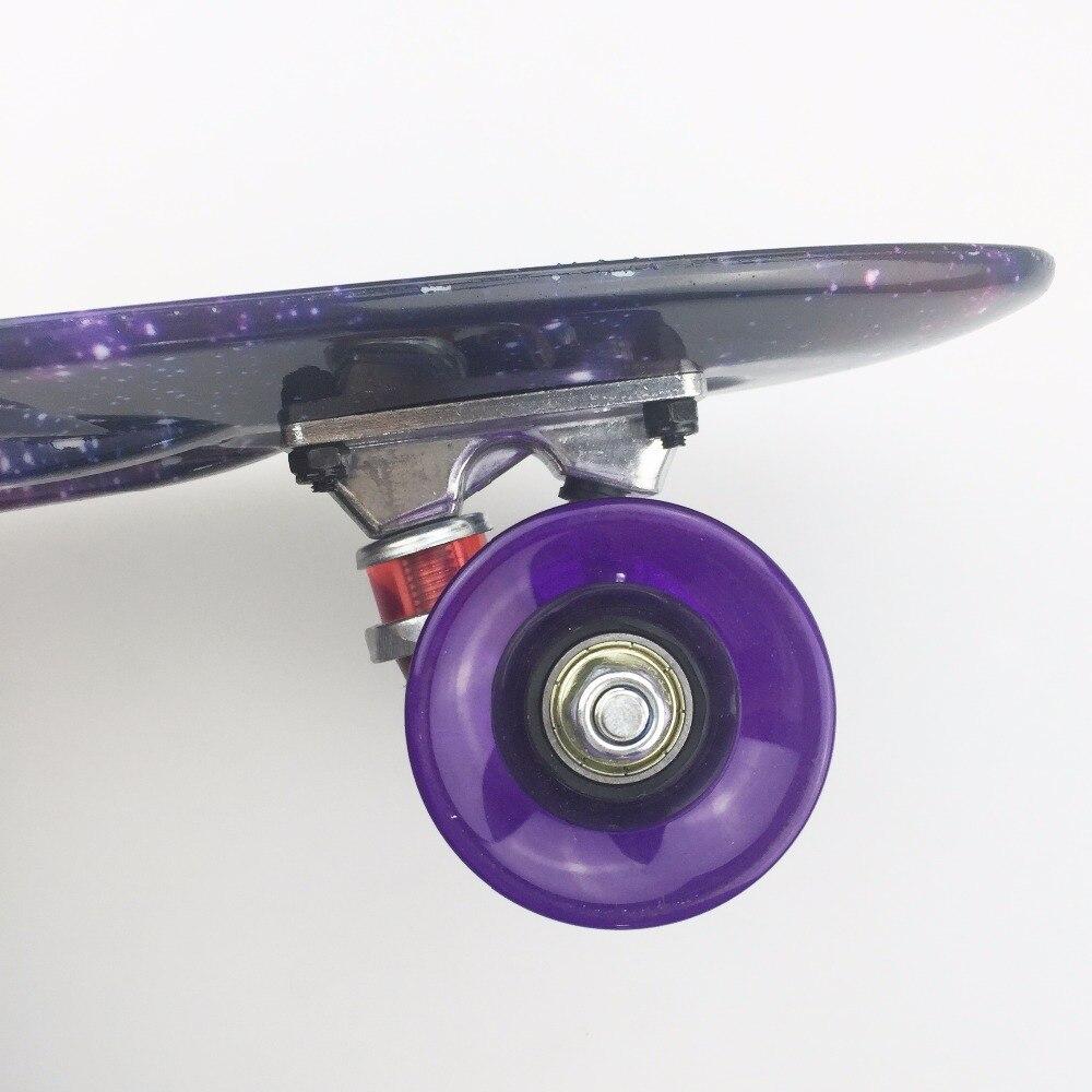 "Купить с кэшбэком Colorful 22"" Mini Skate Penny Board For Kids Plastic Fishboard Cruiser Completed Graphic Retro Banana Skateboard Patins"