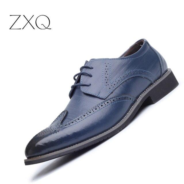 25049a0a4bd 2017 Zapatos de vestir de cuero de estilo británico para Hombre Zapatos  Oxford de alta calidad