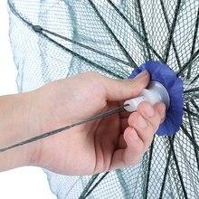 Ultra-light Green Single Knot Utility Fishing Net 12 Side Bait Foldable Small Mesh Fishing Crab Net Portable Outdoor Fishing Net
