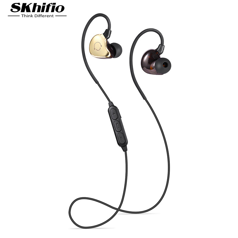 SKhifio BS5 Bluetooth Headphone In-Ear Headset Wireless Ear Hook Earphones Sports with Mic for Mobile Phone Samsung Xiaomi universal led sport bluetooth wireless headset stereo earphone ear hook headset for mobile phone with charger cable