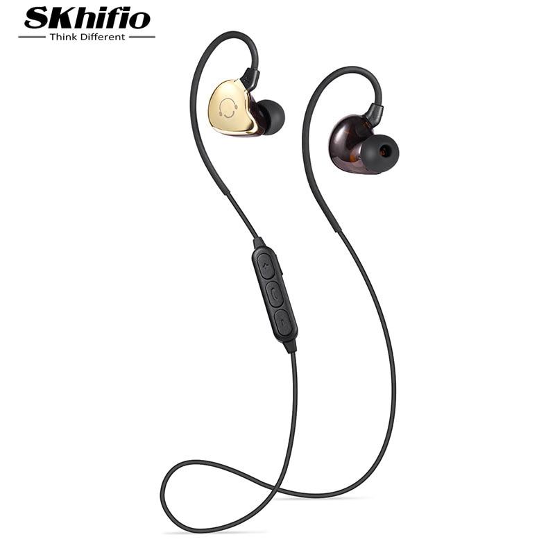 SKhifio BS5 Bluetooth Headphone In-Ear Headset Wireless Ear Hook Earphones Sports with Mic for Mobile Phone Samsung Xiaomi