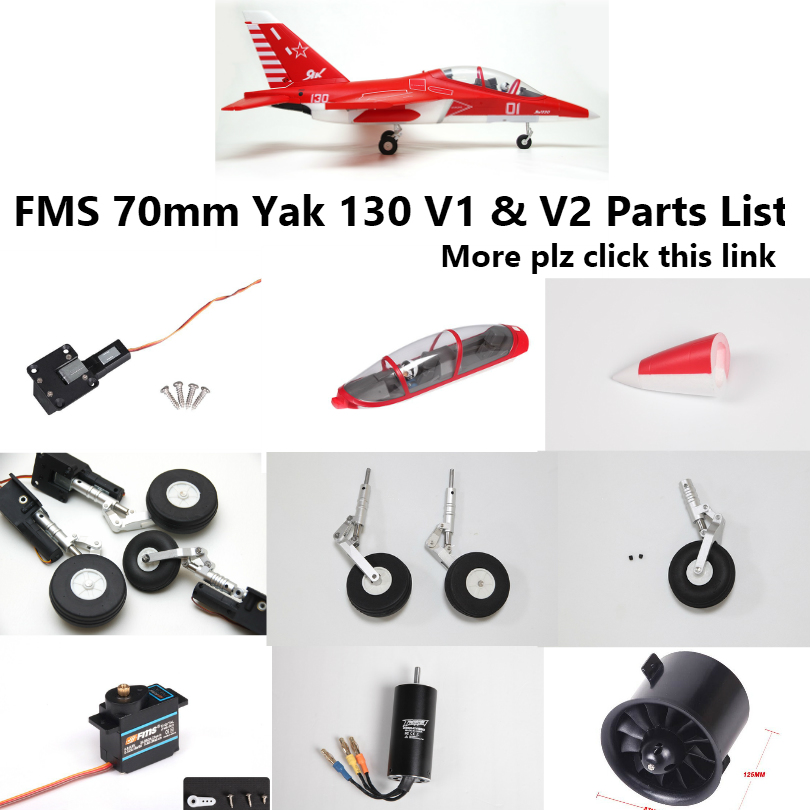 US $1 89 5% OFF|FMS 70mm Yak130 Yak 130 V1 V2 EDF Ducted Fan Jet Parts list  Retract Landing Gear Set System ESC RC Airplane Model Plane Aircraft-in