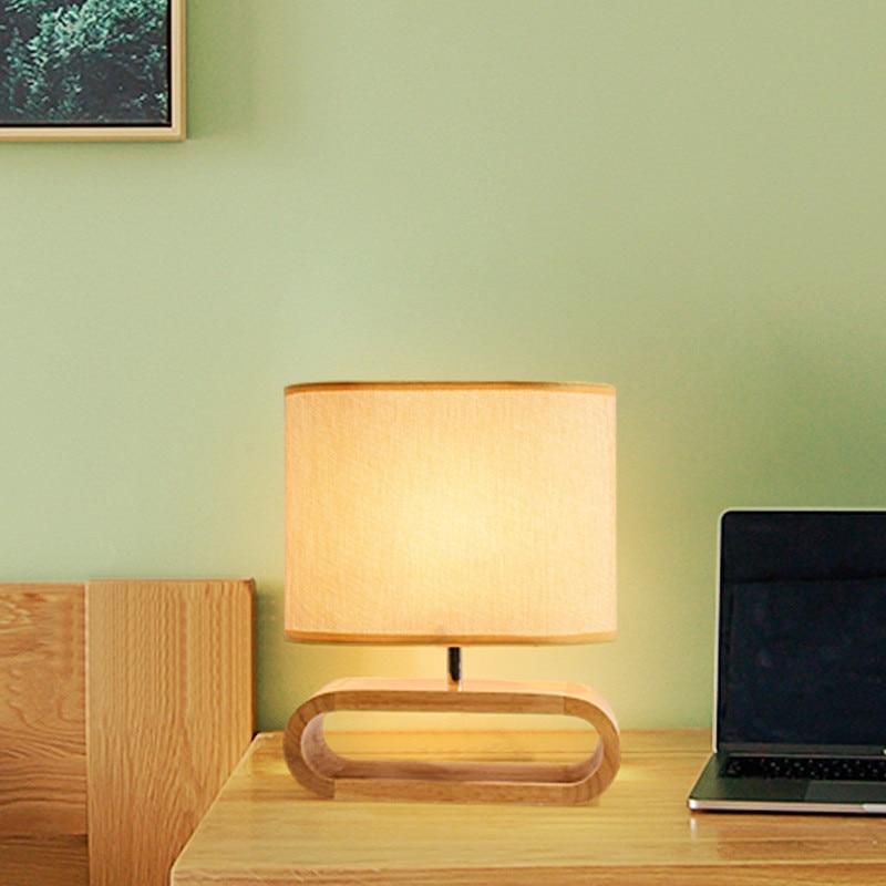 nordic base de madeira candeeiro mesa pano 02