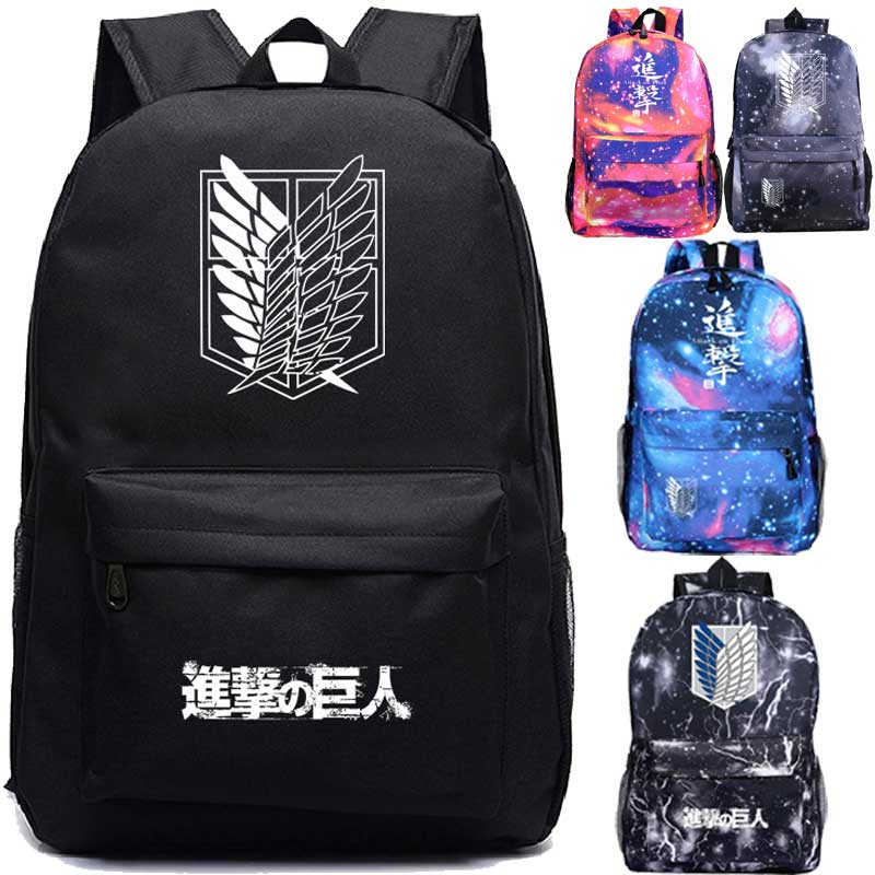 Attack On Titan Backpack Students Boys Girls Bags Fashion New Pattern Attack On Titan Schoolbag Teens Daily Backpack Travel Bag