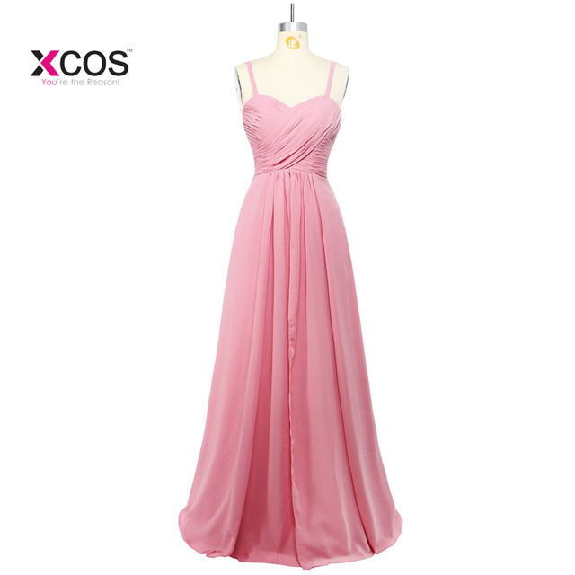 bfa8264d62707 Blush Pink Chiffon Bridesmaid Dresses Long 2018 Elegant Beach Boho Wedding  Guest Party Dress Maid Of Honor Gown Real Sample