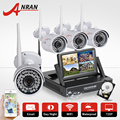 Plug & play sem fio kit nvr anran 7 polegada lcd tela de 1 tb hdd 720 P HD IP WI-FI Câmera Ao Ar Livre IR Bala Câmera de Segurança CCTV sistema