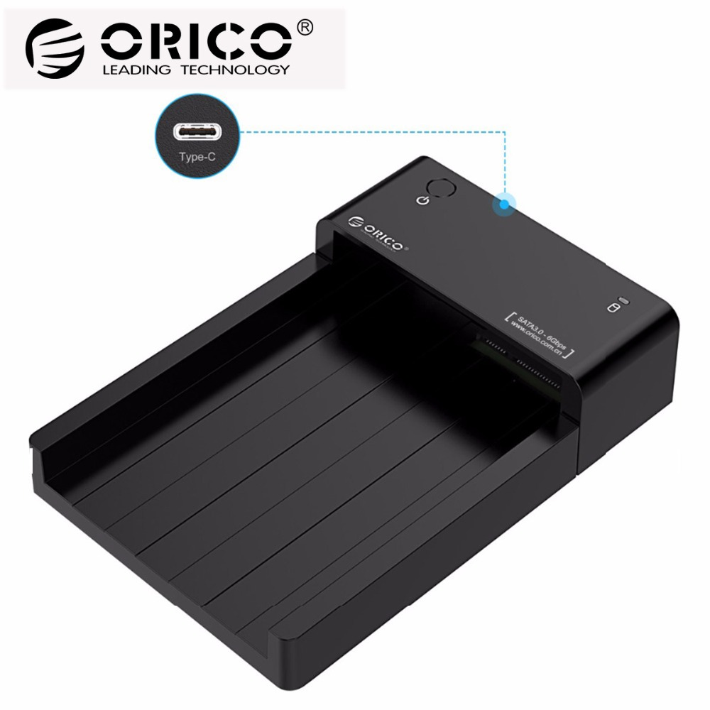 ORICO Type C HDD Enclosure SATA to USB 3.1 2.5 3.5 inch External Hard Drive Docking Station Support UASP 8TB Drives orico 4 bay aluminum usb3 0 to sata 3 5 hdd docking station drive enclosure tool free storage external support 4 x 8tb black