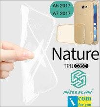 Nillkin Природа Прозрачный Ясно Мягкие Силиконовые ТПУ Защитный Case Чехол Для Samsung Galaxy A5 2017 A520F A7 A720F A3 A320F