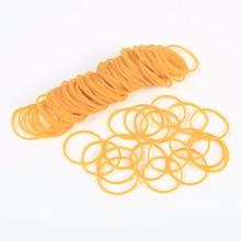 100 шт. желтая эластичная резинка для офиса, школы, упаковочная лента, канцелярские принадлежности