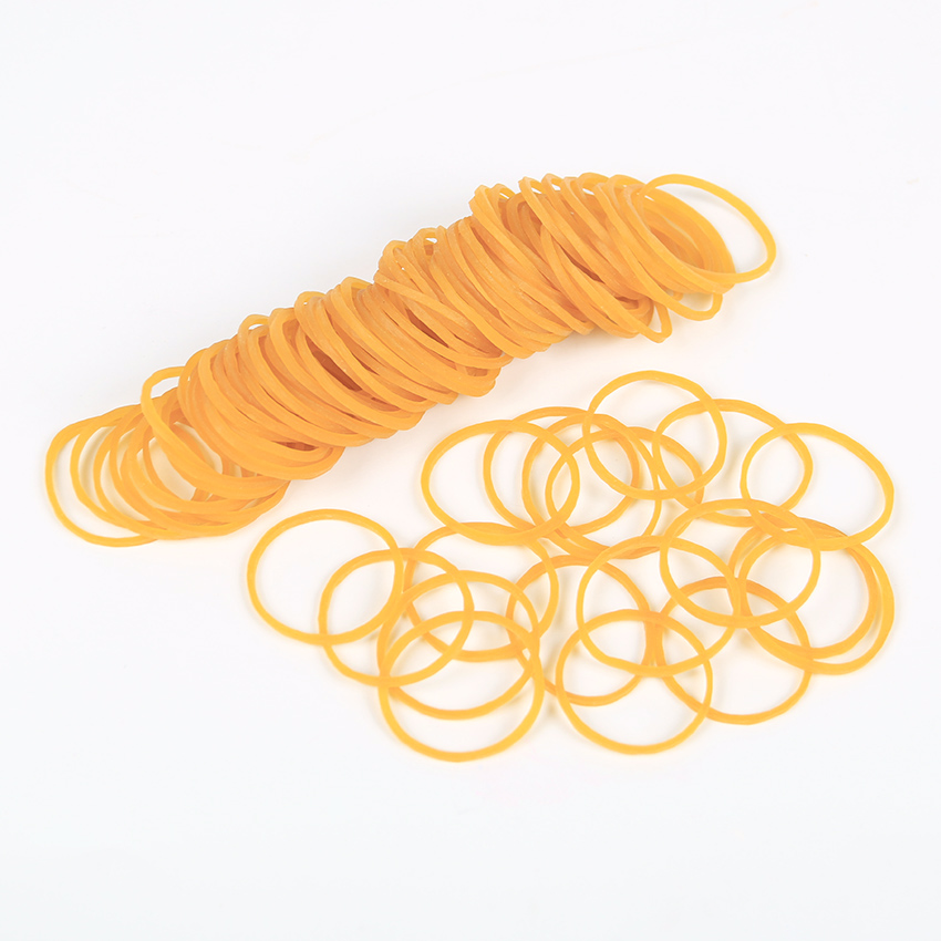 100 PCS Yellow Elastic Rubber Band For Office School Packaging Band Loop Office Stationery Holder Supplies
