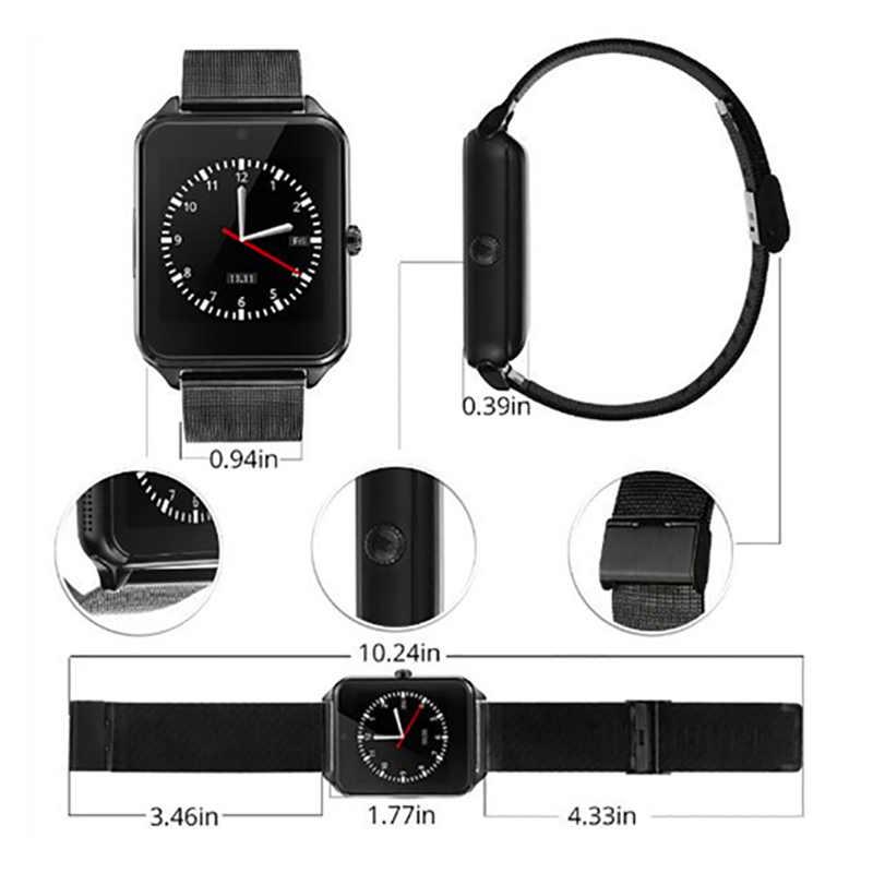 Модные мужские и женские GT08Plus металлические умные часы с ремнем Z60 Bluetooth наручные часы Поддержка Sim TF карты Android и IOS часы pk Q8 Q9