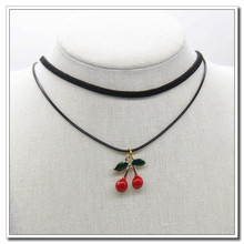 Korean version of the simple student ladies pendant necklace cherry rope with collar short fashion jewelry penda