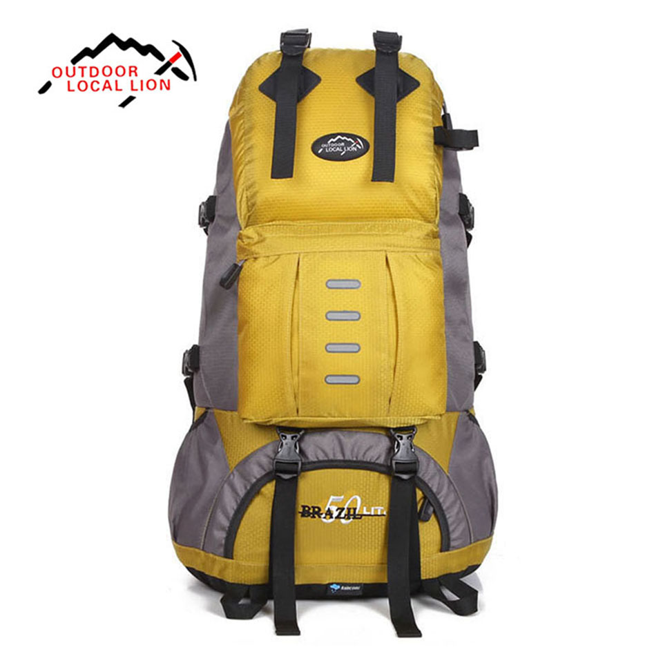 Outdoor Sport Bag LOCAL LION 50L Mountaineering Hiking Backpack Waterproof Trekking Climbing Bags for Men Women Travel Trekking outdoor sport bag local lion 35l waterproof rucksack bags women space bag climbing men travel camouflage laptop backpack mochila