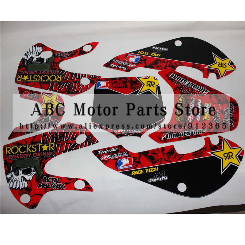 3M Decals Stickers Graphics For 02-08 KLX110 KX65 DRZ110 Pit Dirt Bike Motocross 1