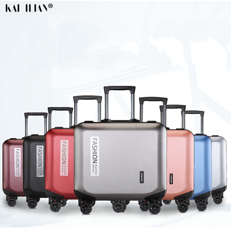 18'' PC Suitcase Travel Rolling Luggage Cabin Carry On Luggage 2019 Women Trolley Suitcase With Wheels For Men's Luggage Big Bag