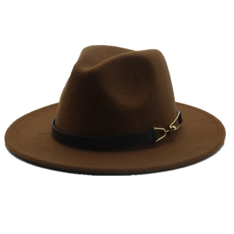 ceb9ab0a3 oZyc Wide Brim Autumn Female Fashion Top hat Jazz Cap Winter Fedora Hat For  men Wool Hat Fashion Chapeau Femme Black Hats