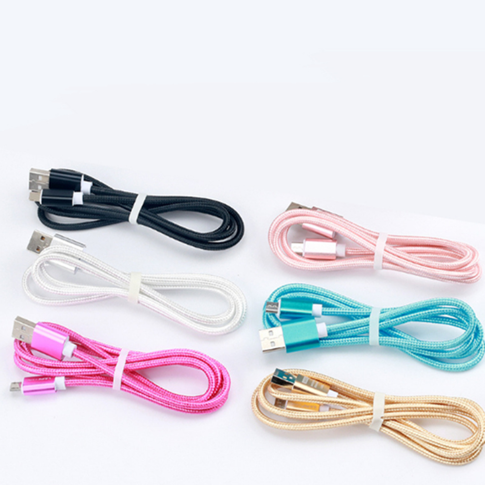Nylon Braided Type-C USB Cable Fast Data Charging Charger Wire for Type-c Mobile device Phone Wire