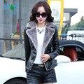 Nueva de Corea Del párrafo corto Delgado de cuero femenina models51