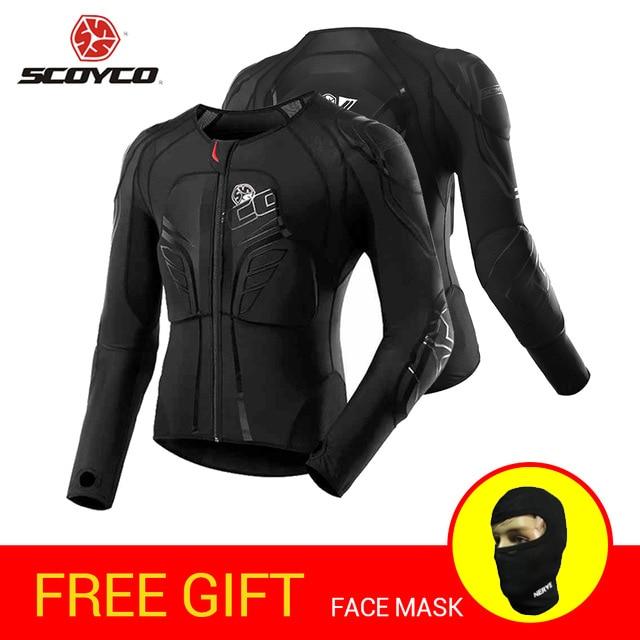 SCOYCO Motorcycle Jacket Motocross Protection Protective Gear Motocross Armor Racing Body Armor Moto Jacket Black Moto Armor scoyco am05 racing motorcycle body armor protector black size m