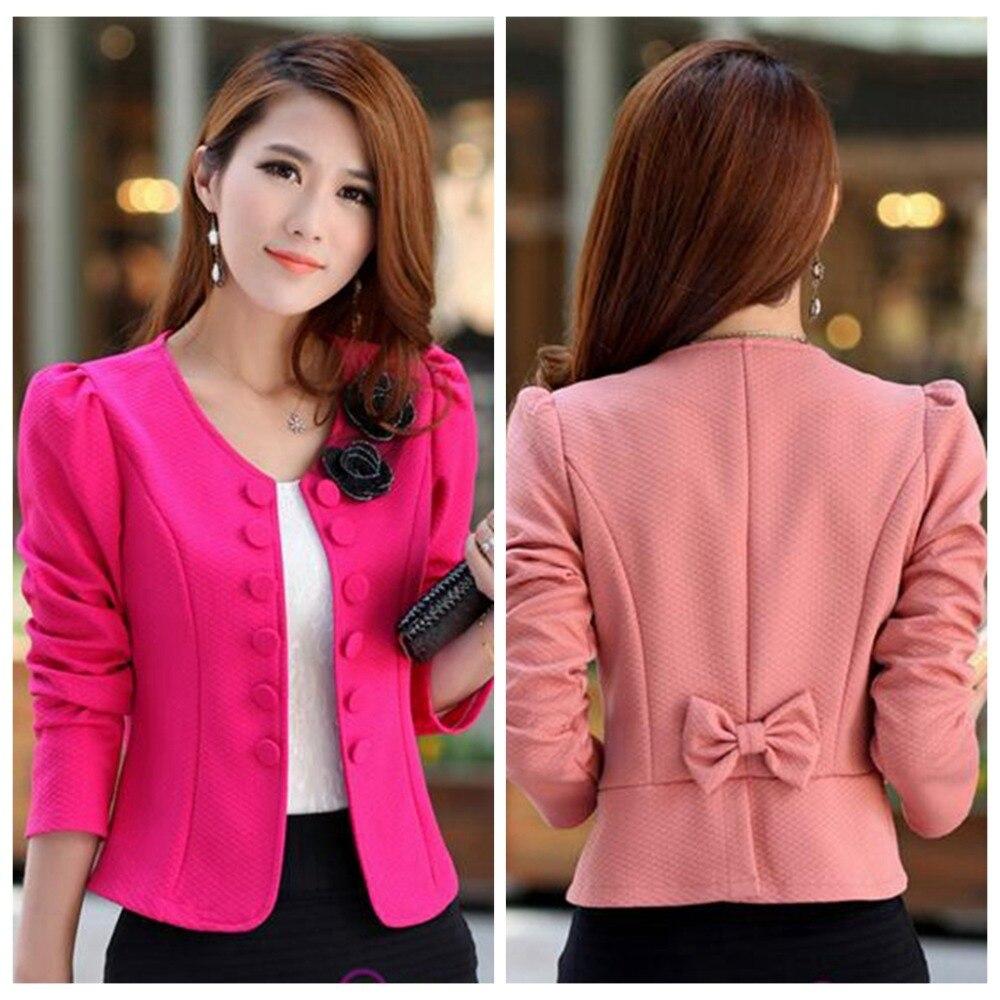̿̿̿(•̪ )Primavera de las nuevas mujeres de moda mujer chaqueta traje ...